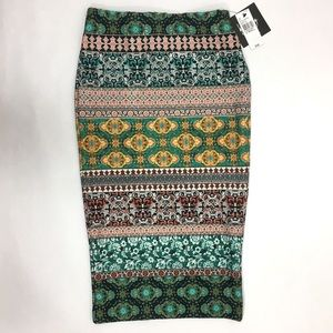 Dresses & Skirts - Pencil Skirt Small Multicolor Pattern